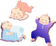 Baby. Vector illustration for a set of sleeping baby Stock Images