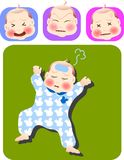 Baby. Vector illustration for a set of expression of sick baby Royalty Free Stock Photo