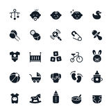 ฺBaby εικονίδια Στοκ εικόνα με δικαίωμα ελεύθερης χρήσης