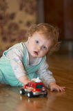 Baby. And car toy Royalty Free Stock Images