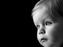 Baby. Concentrating royalty free stock images