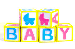 Baby. Blocks Stock Images
