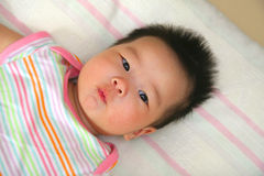 Baby. Cute Chinese oriental Asian baby Royalty Free Stock Photography