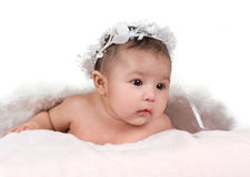 Baby. 3 month old beautiful Hispanic baby girl Royalty Free Stock Photo