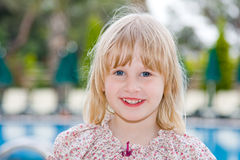 Baby. Beautiful little girl in nature Royalty Free Stock Photography