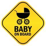 Baby aan boord royalty-vrije illustratie