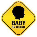 Baby aan boord Stock Afbeeldingen