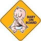 Baby aan boord Royalty-vrije Stock Afbeelding