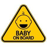Baby aan boord van teken Royalty-vrije Stock Fotografie