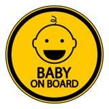 Baby aan boord van teken Stock Afbeelding