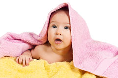 Baby abd towels Stock Photos