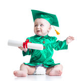 Baby in academician clothes Royalty Free Stock Photos
