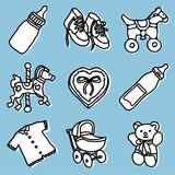 Baby accessories set Royalty Free Stock Photos
