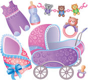 Baby accessory Set Royalty Free Stock Photos