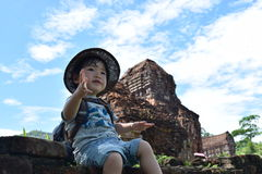 Baby adventure at Mison world heritage Stock Photos