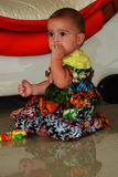 Baby in African dress Stock Images