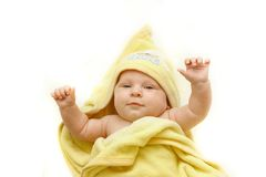 Baby afther bath Royalty Free Stock Images