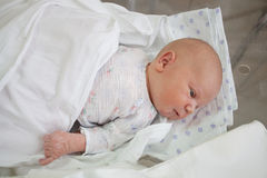Baby at the age of 4 days Stock Photos