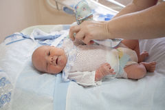 Baby at the age of 4 days Stock Photography
