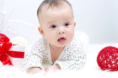 Baby age of 3 months Stock Photography