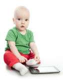 Baby of all ages, Tablet PC Stock Photography