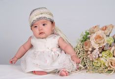 Free Baby And Flower Stock Photos - 5899923