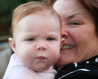 Baby And Grandmother Royalty Free Stock Photography