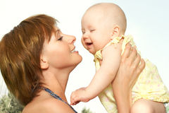 Free BABY AND MOTHER Royalty Free Stock Images - 927619