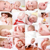 Baby And Pregnancy Collage Stock Photo