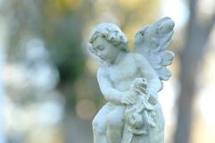 Baby angel. Angel stone for a childs grave Royalty Free Stock Photography
