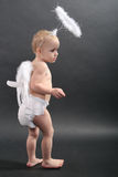 Baby with angel Stock Images