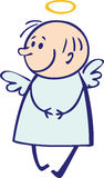Baby angel. Small shy little funny angel Royalty Free Stock Photography