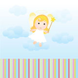 Baby angel card. To be used as baby, angel, birthdays and other greeting cards theme Royalty Free Stock Image