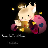Baby angel with hearts Royalty Free Stock Photos