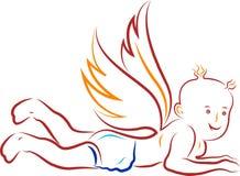 Baby angel praying Stock Images