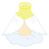 Baby angel sitting on cloud Royalty Free Stock Photo