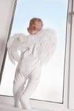 Baby angel in window Стоковое Изображение RF