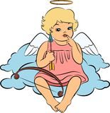 Baby angel with wings. Beautiful baby angel with wings Royalty Free Stock Image
