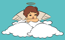 Baby angel with wings. Beautiful baby angel with wings Stock Photos
