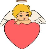 Baby angel with wings. Beautiful baby angel with wings Stock Images