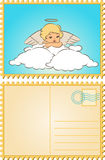 Baby angel with wings. Beautiful baby angel with wings Stock Image