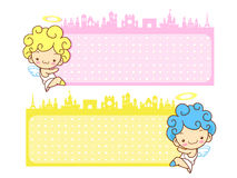 Baby Angels Mascot are pendency. Angel Character Design Series. Stock Photography