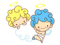 Baby Angels Mascot are pendency. Angel Character Design Series. Royalty Free Stock Photos