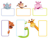 Baby animal banner. Cartoon label Royalty Free Stock Image