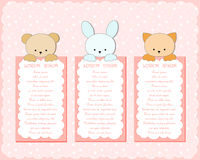 Baby animal banners collection. Stock Images