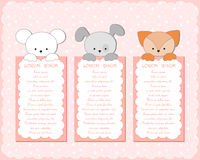 Baby animal banners collection. Stock Photo
