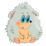 Baby animal birthday. Cartoon animal baby playing.little hedgehog Royalty Free Stock Photo