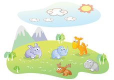 Baby animal cartoon Royalty Free Stock Image