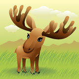 Baby Animal collection: Moose stock illustration