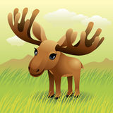 Baby Animal collection: Moose royalty free illustration